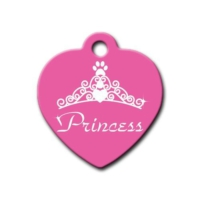 Dalis Pet Tag - Princess Kalp Kedi Köpek Künyesi