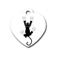 Dalis Pet Tag - Tirmanan Kedi Kalp Kedi Köpek Künyesi