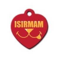 Dalis Pet Tag - Isırmam Kalp Köpek Künyesi