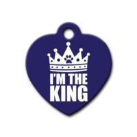 Dalis Pet Tag - I'm The King Kalp Kedi Köpek Künyesi