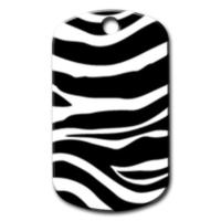 Dalis Pet Tag - Zebra Desenli Kedi Köpek Künyesi