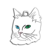 Dalis Pet Tag - Mavi Yeşil Gözlü Van Kedisi Kedi Künyesi