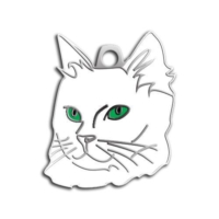 Dalis Pet Tag - Yeşil Gözlü Van Kedisi Kedi Künyesi