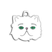 Dalis Pet Tag - Yeşil Gözlü Beyaz İran Kedisi Künyesi