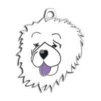 Dalis Pet Tag - Çin Aslani Köpek Künyesi (Beyaz)