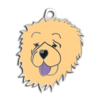 Dalis Pet Tag - Çin Aslani Köpek Künyesi (Krem)