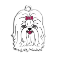 Dalis Pet Tag - Shih-Tzu Köpek Künyesi (Beyaz)