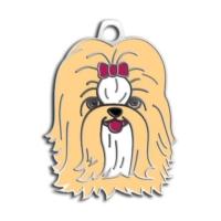 Dalis Pet Tag - Shih-Tzu Köpek Künyesi (Krem)