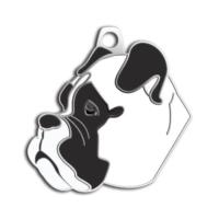 Dalis Pet Tag - Boxer Köpek Künyesi (Beyaz)