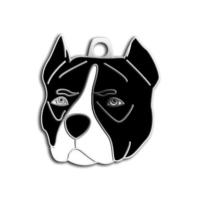 Dalis Pet Tag - Pitbull Köpek Künyesi (Siyah)