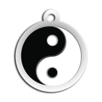 Dalis Pet Tag - Mineli Ying Yang Desenli Künye