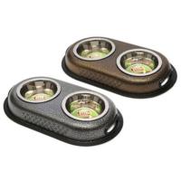 Flip Standli Çelik Mama Kabı Seti 2X16 Oz (1000 Ml)