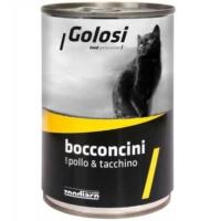 Golosi Bacconcini Hindi Etli Ve Tavuklu Kedi Konservesi 400 Gr