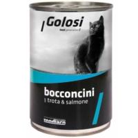 Golosi Bacconcini Somonlu Ve Alabalıkli Kedi Konservesi 400 Gr