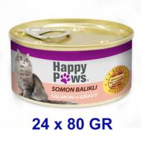 Happy Paws Salmon İn Gravy Somon Balıklı Ve Soslu Yetişkin Kedi Konservesi 80 Gr (24 Adet)
