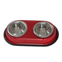 Happy Paws Kedi Ve Köpek İkili Çelik Mama Ve Su Kabı Kırmızı