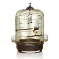 İmac Milly Pirinç-Füme Yuvarlak Kuş Kafesi 33X48 Cm