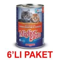 Miglior Gatto Kümes Hayvanli Ve Havuçlu Kedi Konservesi 405 Gr (6'li Paket)