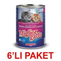 Miglior Gatto Kuzu Işkembe Ve Havuçlu Kedi Konservesi 405 Gr (6'li Paket)