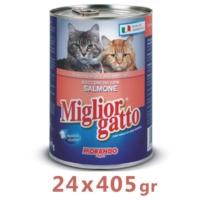 Miglior Gatto Somonlu Kedi Konservesi 405 Gr (24 Adet)