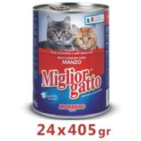 Miglior Gatto Biftekli Kedi Konservesi 405 Gr (24 Adet)