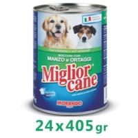 Miglior Cane Biftekli Sebzeli Köpek Konservesi 405 Gr (24 Adet)