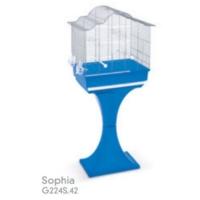 Record Mps Sophia 2 Ayaklı Kuş Kafesi (Krom-Mavi) 62X40X134 Cm