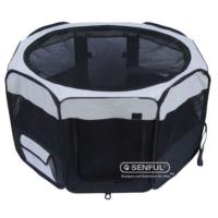 Senful Sdt-3050Xl Katlanabilir Yavru Köpek Oyun Alanı Medium Siyah