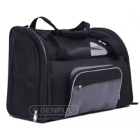 Senful Pet Taşıma Çantası 41X30X21 Cm Siyah - Kırmızı