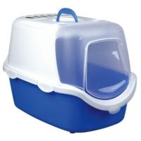 Trixie Kapakli Karbon Filtreli Kapali Kedi Tuvaleti 40X40X56 Cm Mavi