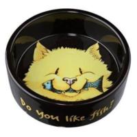 Trixie Kedi Seramik Yem Su Kabı, 0.3 L - 12 Cm,Siyah