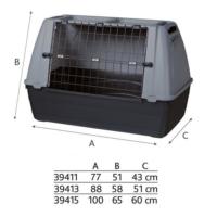 Trixie Metal Kapılı Plastik Köpek Taşıma Kafesi S-M 77X51X43 Cm
