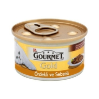 Gourmet Gold Kiyilmiş Ördek Ve Sebzeli Yetişkin Kedi Konservesi 85 Gr