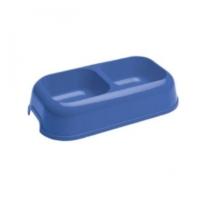Trend Store Plastik Mavi İkili Mama Kabı