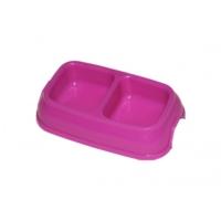 Trend Store Plastik Pembe İkili Mama Kabı