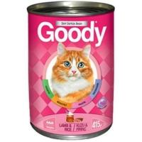 Goody 24 Adet Kuzu Etli Pirinçli Kedi Konservesi 415 Gr