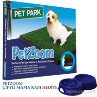 Vip Pet Zoom Pet Park Evcil Köpek Tuvalet Eğitim Seti + Petzoom Çiftli Mama Kabı Hediye!