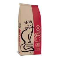 Mito Mix Adult Cat Tavuklu ve Sebzeli, Renkli Taneli Yetişkin Kedi Maması 15 Kg