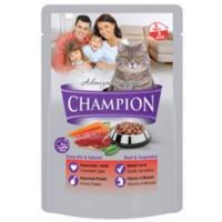 Champion 24 Adet Dana Etli Sebzeli Poşet Yaş Mama 100 Gr