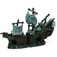 Chicos-Dekor Batık Gemi Koyu Renkli (25X10,5X17)
