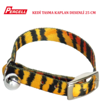Percell Kaplan Desenli Kedi Boyun Tasması 25 cm