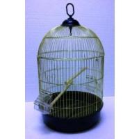 Qh Pet Cage Yuvarlak Kuş Kafesi Pirinç Kaplama (34 X 55)