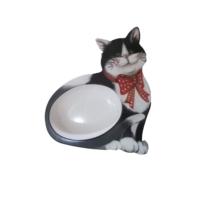 Record Dekoratif Melamin Kedi Mama Kabı 23 x 21 CM