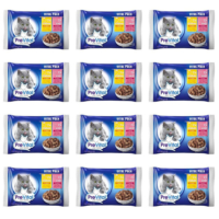 Prevital Vital Pack 2 Adet Biftekli + 2 Adet Tavuklu Kedi Pouch 4 X 100 gr 12 Adet
