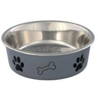 Trixie Köpek Paslanmaz Çelik Mama ve Su Kabı 1,4l/ø21 cm Gri