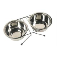 Happy Paws Kedi Ve Köpek İkili Çelik Mama Ve Su Kabı 2X16Cm