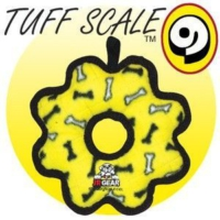 Tuffy Pati Desenli Halka Şeklinde Köpek Oyuncağı 20 Cm (Sarı)