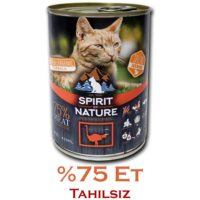 Spirit Of Nature Devekuşu Etli Kedi Konservesi 415 Gr