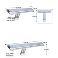 Dophın Led Lamba 450 42X7.5 Cm