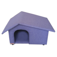 Lepus Yatay Çatılı Küçük Irk Köpek Kulübesi 40*45*65 cm